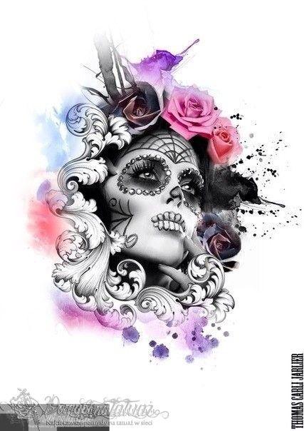 Znalezione obrazy dla zapytania kwiaty kolorowe tatuaże