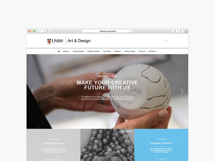 UNSW Art and Design Website. Designed by Made Somewhere madesomewhere.com.au