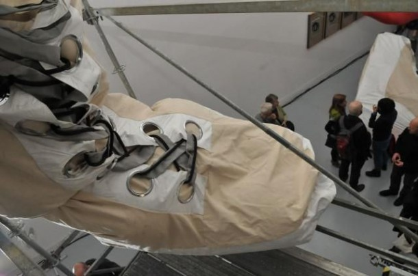 A Giant Space Suit in Honor of the First Female Astronaut…