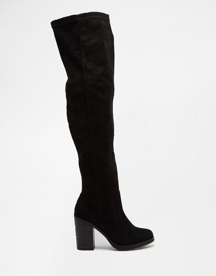 Bild 2 von New Look – Overknee-Stiefel mit Blockabsatz