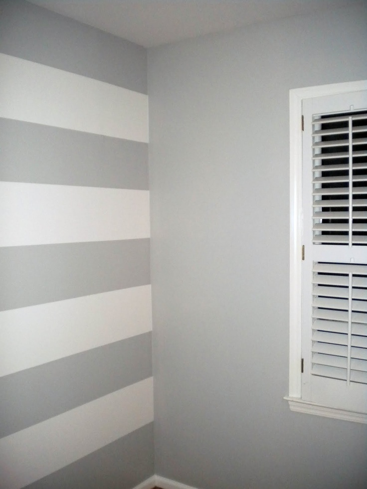 Grey Striped Painted Walls
