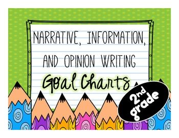 writing goals chart! 2nd grade
