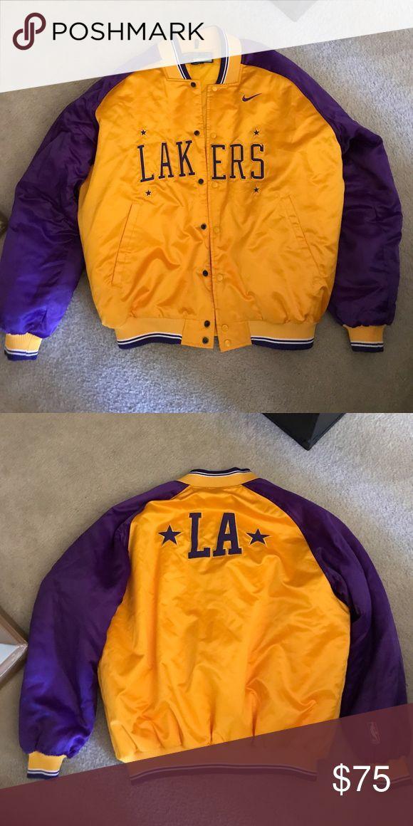Vintage Nike LA Laker Jacket XL LA Laker Varsity Jacket. No flaws Nike Jackets & Coats Bomber & Varsity