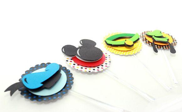Topper para Cupcake Turma do Mickey