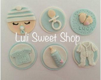 Décorations à cupcake bébé fondant Fondant par LuliSweetShop