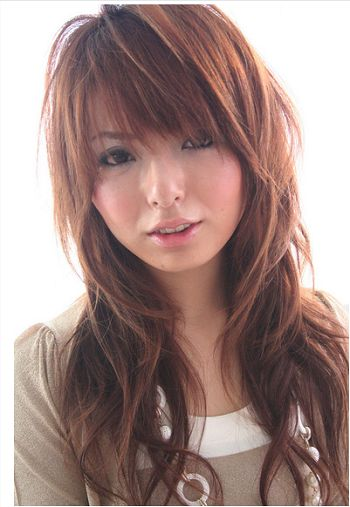 2012 trends long hairstyle with bangs for girls