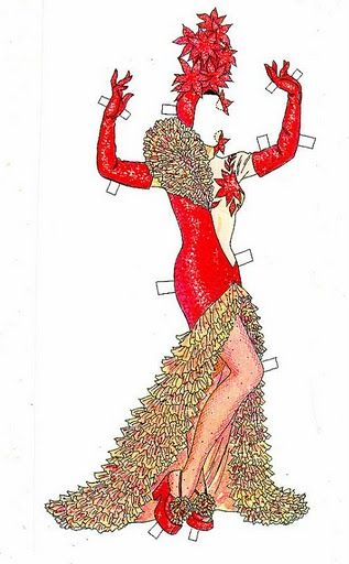 Кармен Миранда (Tom Tierney) Arielle Gabriel writes about miracles and travel in The Goddess of Mercy & The Dept of Miracles also free paper dolls at The China Adventures of Arielle Gabriel * free paper dolls Arielle Gabriel's The International Paper Doll Society *