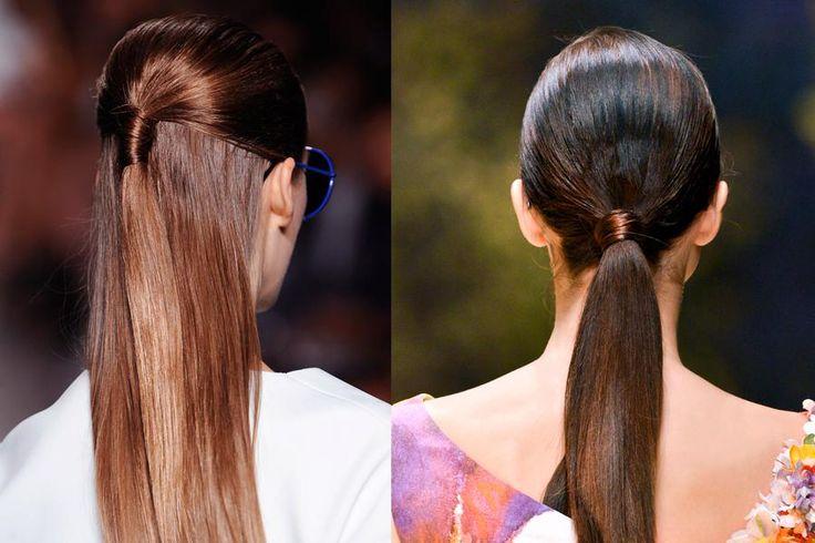 Zusammengebunden Für warme Sommertage: Haare zusammenbinden und danacht mit einer Strähne um den Haargummi legen, damit dieser verdeckt wird. The colour use could match Mia Lou's Jade light brown.
