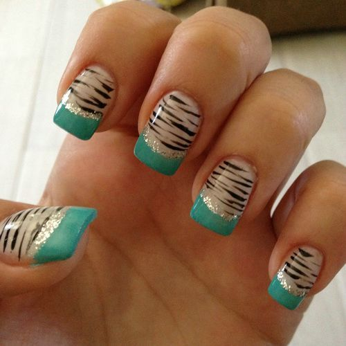 25 beautiful zebra print nails ideas on pinterest zebra nail animal print nail designs latest trends that youll love prinsesfo Choice Image