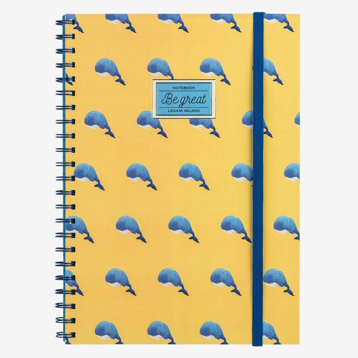Il quaderno con spirale Be great è ideale per annotare pensieri, custodire ricordi e prendere appunti. Perfetto in ufficio, a scuola, nel tempo libero. I quaderni A4 a righe Legami, colorano i tuoi giorni con stile