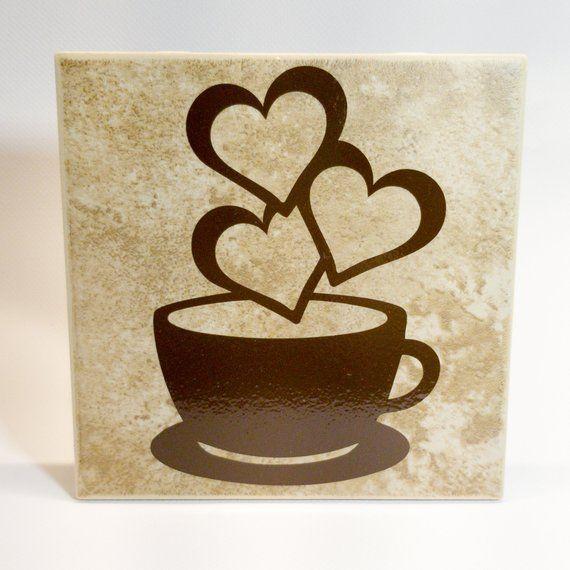 Coffee Mug With Hearts Coffee Sign Kitchen Decor Coffee Wall Decor Coffee Wall Decor Coffee Signs Coffee Heart