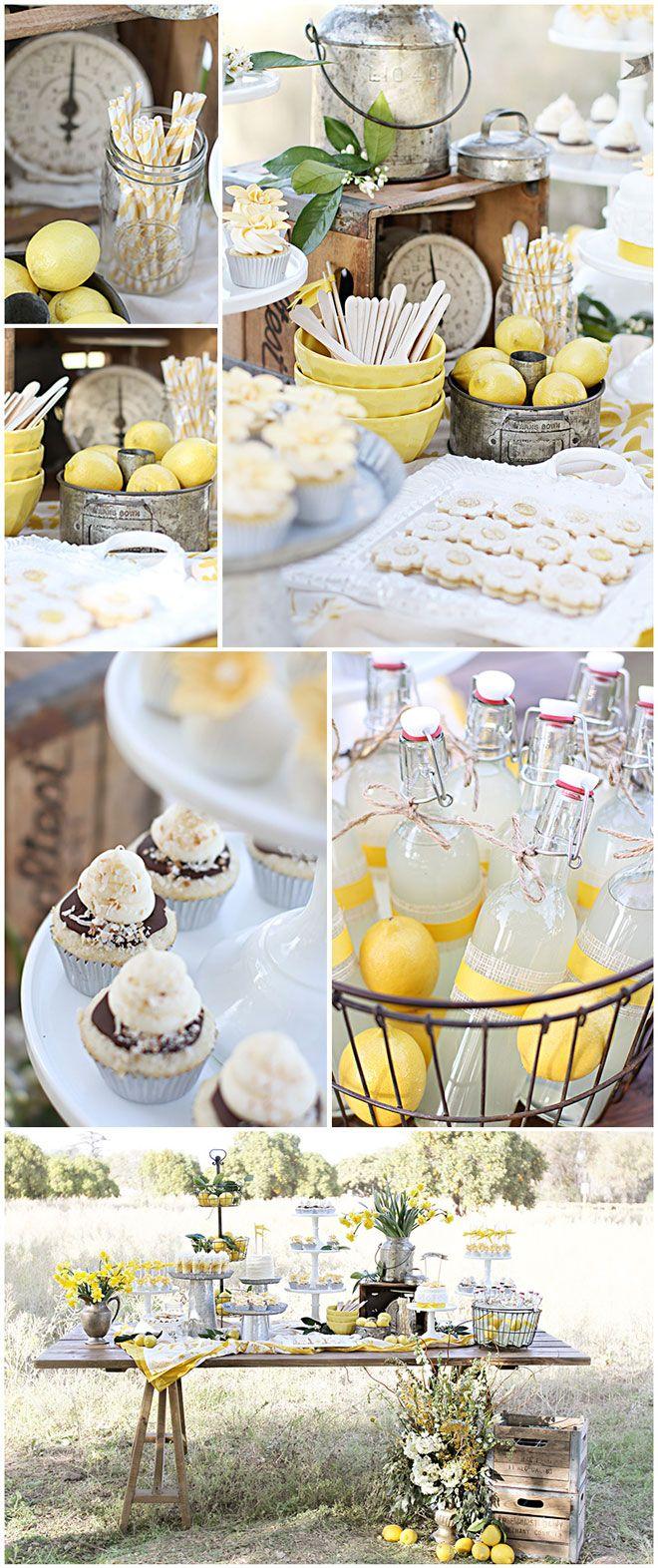 Tablescape ~ lemon garden party