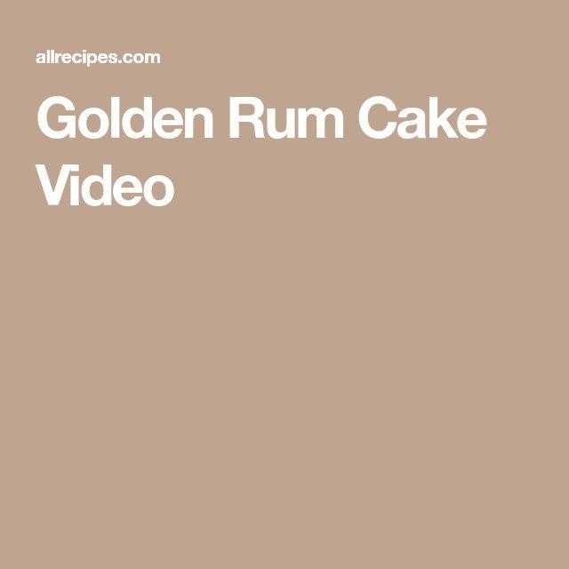 Golden Rum Cake Video