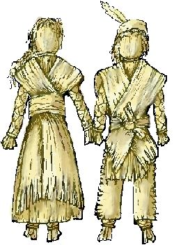 This is an old fashioned doll my grandmother told me about.  I haven't made these yet, but this is the pattern I will use.  :)