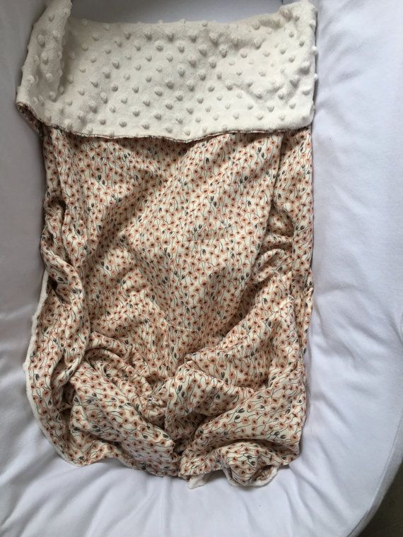 Baby Cotton Minky Blanket  Japanese Floral