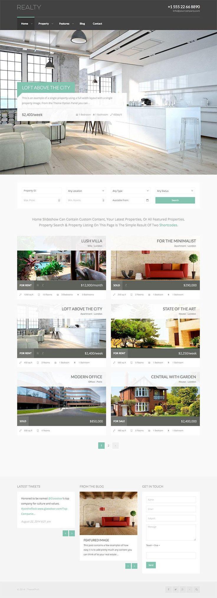 Realty Responsive Real Estate WordPress Theme - WPExplorer
