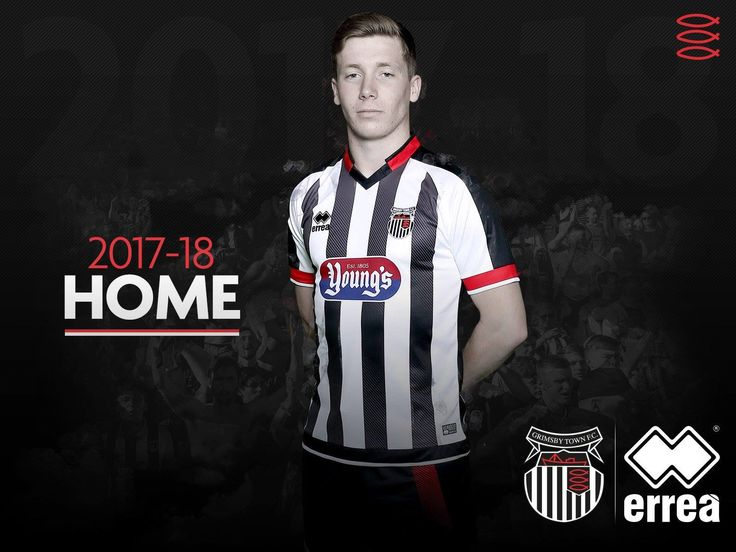 The new Errea Grimsby Town 2017-18 jersey introduces a unique design.