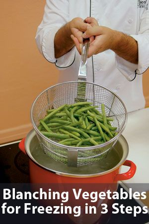 Smart Health talk Cooking TiP; Blanching Vegetables for Freezing in 3 Steps. As you harvest your garden keep the extras for later by freezing. Important that you blanch vegetables first to prevent freezer burn and preserve crispness, flavor, and nutrition. We're losing these skills and need to get them back as more people discover and rediscover gardening.