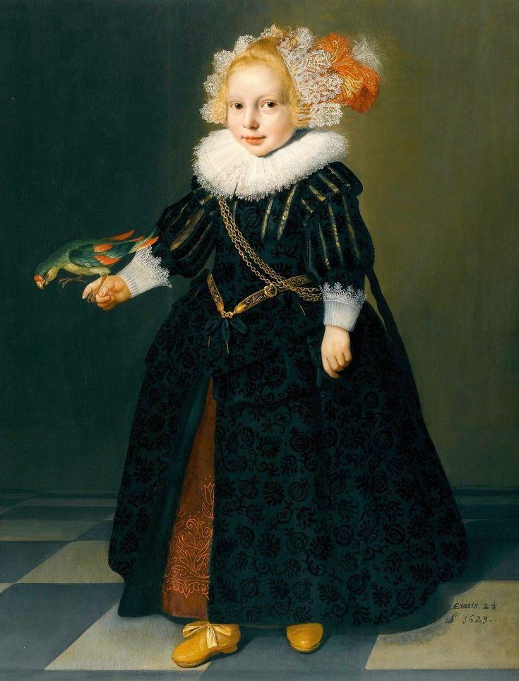 Dirck Dircksz zugeschrieben. van Santvoort (1610 – 1680), Bildnis eines Kind …
