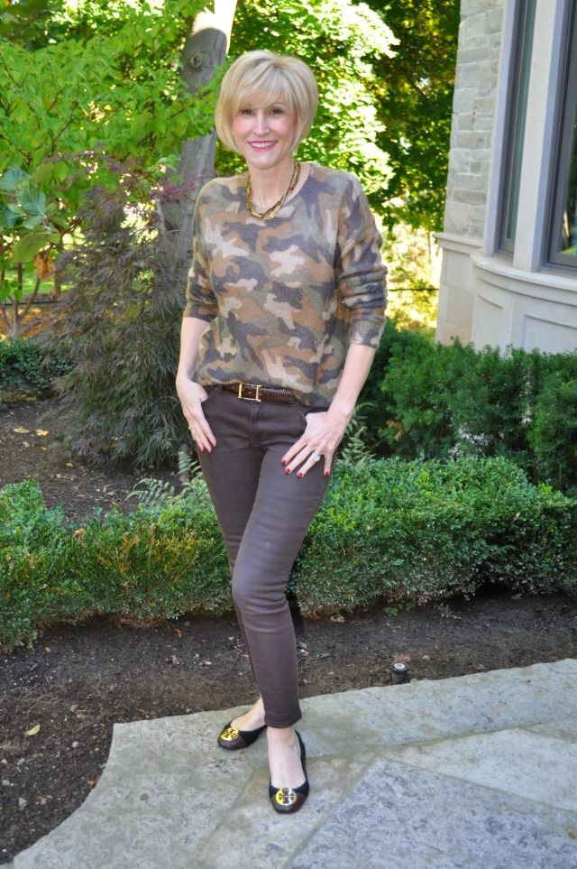 How to wear the camo trend - Deborah Boland  Fabulous After 40