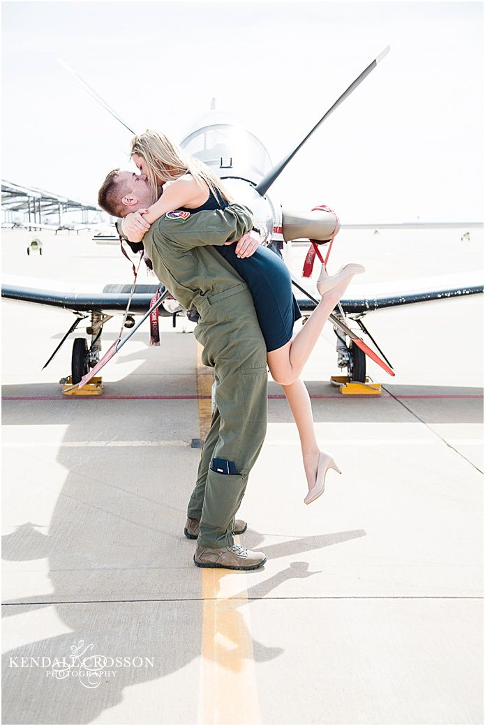 Air Force Pilot wedding, engagement pics