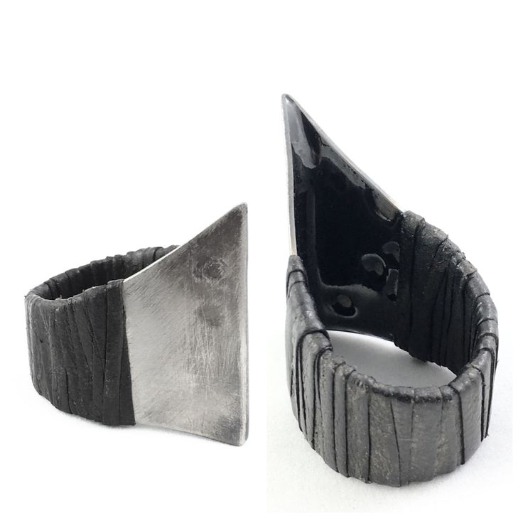 WILDHORN titanium ring with leather wrapping available at wildhornj.com