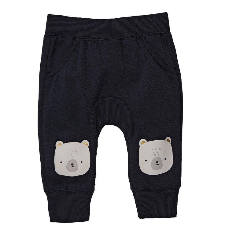 1x NB Hippo + Friends Baby Girl Gusset Print Trackpants