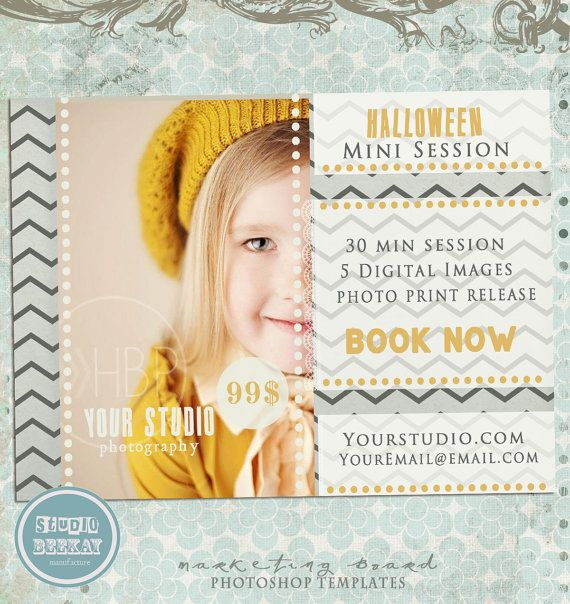 Halloween Mini Session, Mini Session Template, Halloween Flyer, Mini Session, Flyer Template