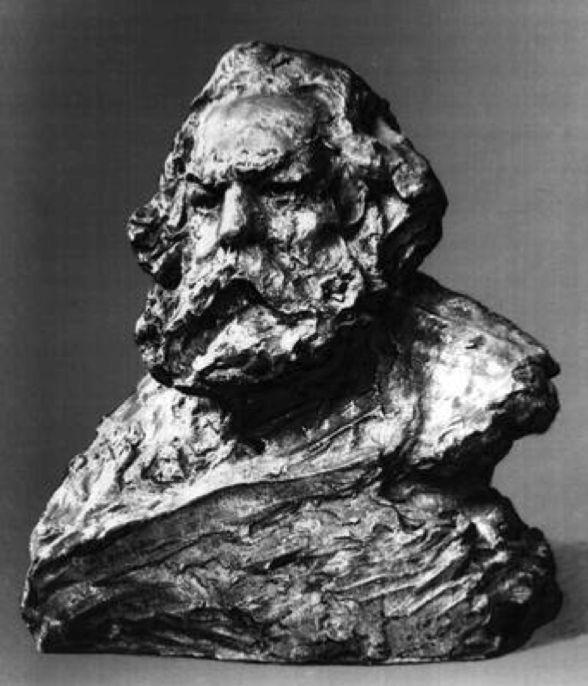 Anna Golubkina - Sculpture of Karl Marx, 1905