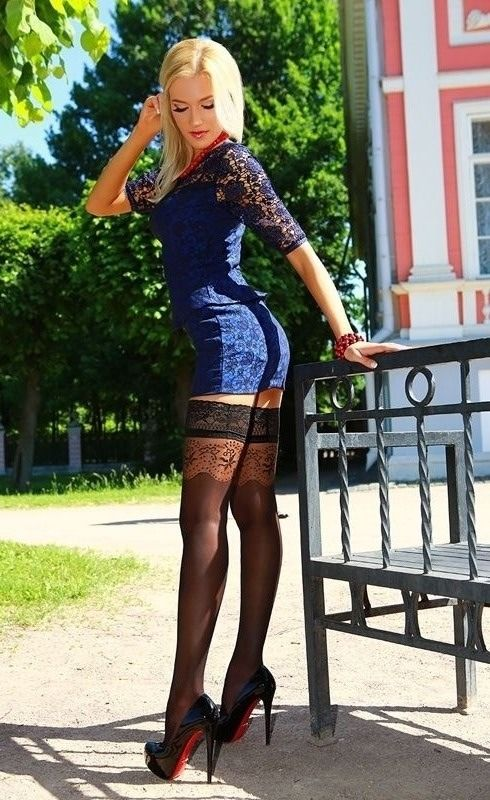 high heels and stockings - Girls legs stockings nylons hold ups high heels pumps sexy seamed stockings  louboutin fishnets