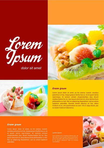 Gambar Brosur Makanan Simple - Gambaran