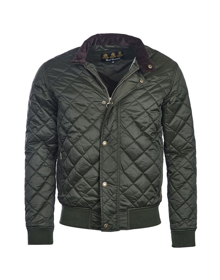 Barbour Men's Moss Quilted Bomber Jacket - Sage MQU0838SG71