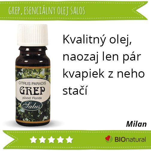 Hodnotenie esenciálneho oleja Grep značky  #saloos http://www.bionatural.sk/p/grep-etericky-olej?utm_campaign=hodnotenie&utm_medium=pin&utm_source=pinterest&utm_content=&utm_term=grep_eo