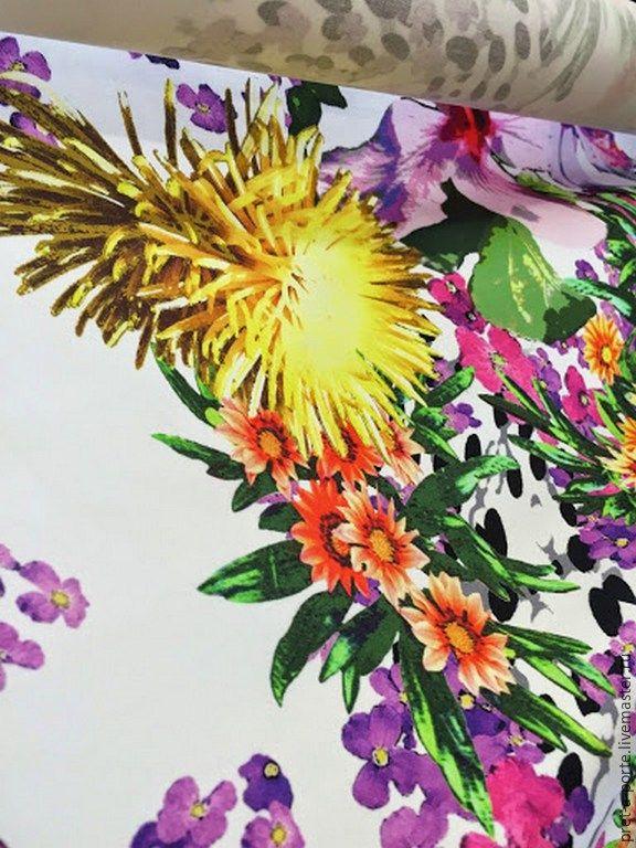 Купить GUCCI хлопок стрейч плательный , Италия - разноцветный, итальянские ткани, материалы для творчества