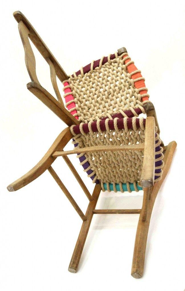 Les 25 meilleures id es de la cat gorie vieilles chaises en exclusivit sur p - Customiser des chaises ...