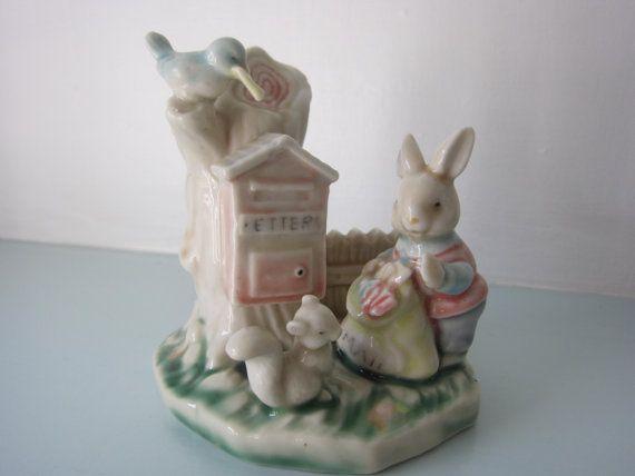 Christening gift vintage rabbit figurine by thevintagemagpie01