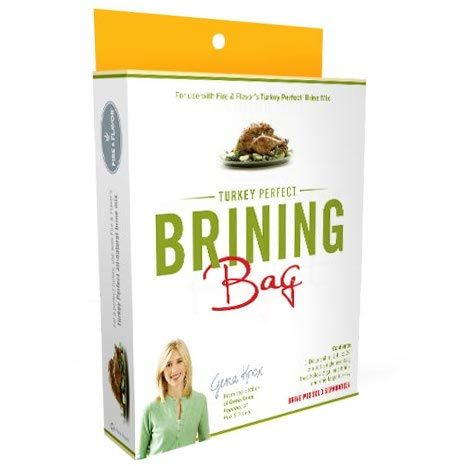 Enjoy a juicy and tender turkey every time when you combine a Fire & Flavor Turkey Perfect Brine Mix with this Turkey Perfect Brining Bag.