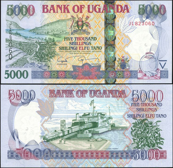Uganda 5000 5,000 2017 Shillings 2018 P-NEW UNC