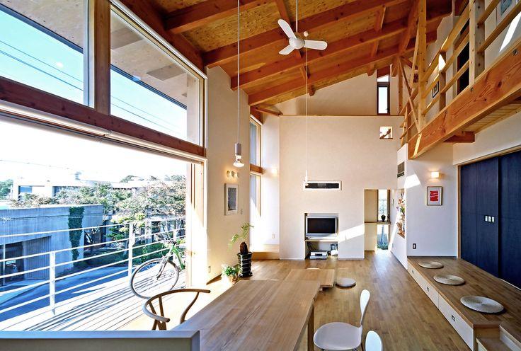 久保田英之建築研究所 の モダンな リビングルーム リビング