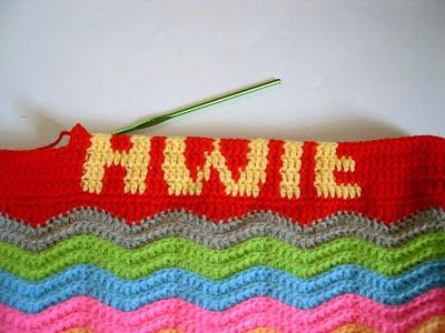 How to crochet letters into your work.  I've been looking for an easy to follow tutorial for this since I jumped from knitting to crochet.