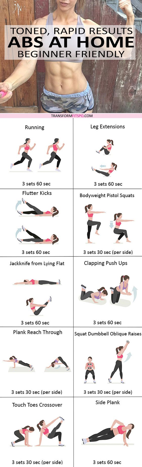 #womensworkout #workout #female fitness Repin and share if this workout gave you abs at home! Click the pin for the full workout.