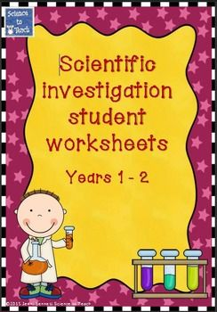 These customisable investigation worksheets are suitable for use with students in early elementary school.The worksheets sections are:Year 1 -What I want to find outWhat I will use to do itWhat it will looks like when I do itWhat it looked like when I did itI thought it wasMy favorite part wasYear 2What I want to find out (aim)What I will use to do it (resources) and draw diagramMethod cut and paste boxes, write or drawWhat I think will happen (prediction)What I will keep the same…