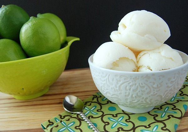 Key Lime Pie Sherbet:  I just made this- SO GOOD!!  Even added some extra spinach (can't even taste it)!  :)