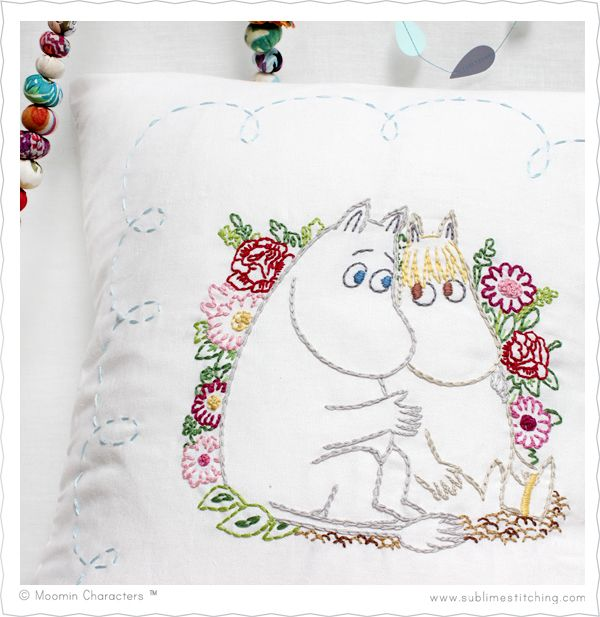 Large format • Moomin Love • Embroidery Transfers from Sublime Stitching