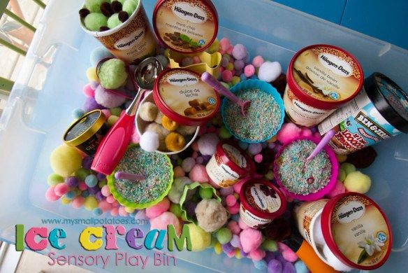 Ice cream sensory bucket