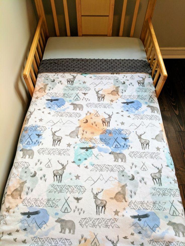 Woodland baby crib blanket.