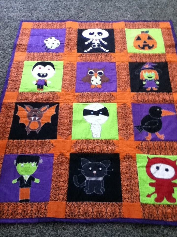 This is the Halloween Quilt that I made and designed for a friend.