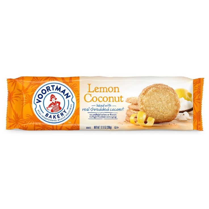 Voortman Lemon Coconut Cookies - 12.3oz