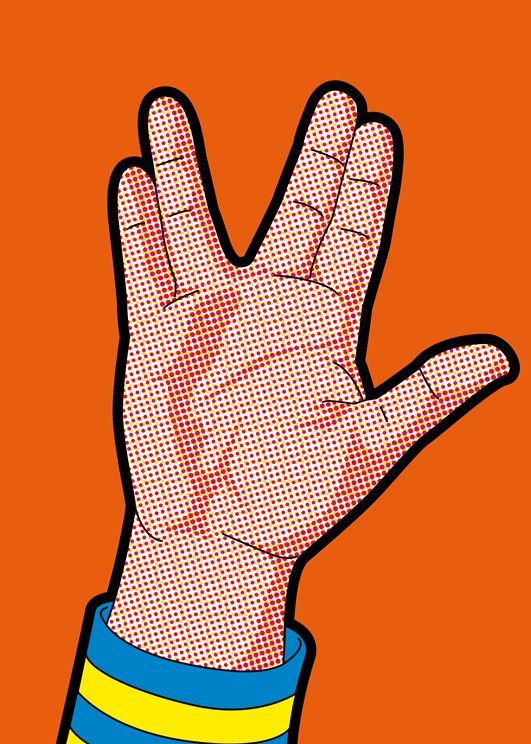 Star Trek - Live Long and Prosper - Dr. Spock, Vulcan - pop art