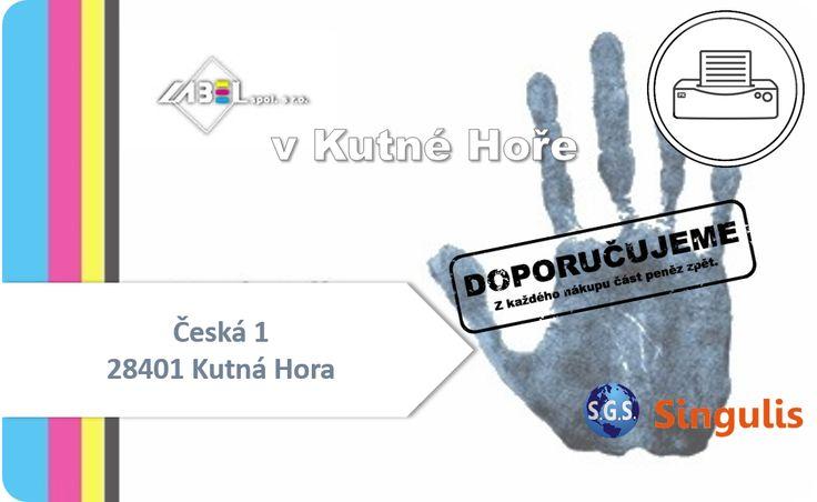 NOVÝ OBCHODNÍ PARTNER V KUTNÉ HOŘE LABEL s.r.o. - TISKÁRNA  www.singulis.cz/pages/obchodnik.aspx?cla_id=21471